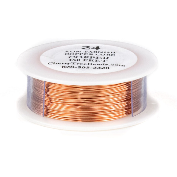 24 Gauge Coated Non-Tarnish Copper Wire on a 150 Foot Spool