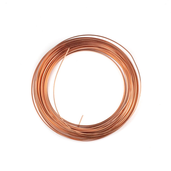 18 Gauge Coated Tarnish Resistant Copper Half Round Wire in 7-Yard Coil
