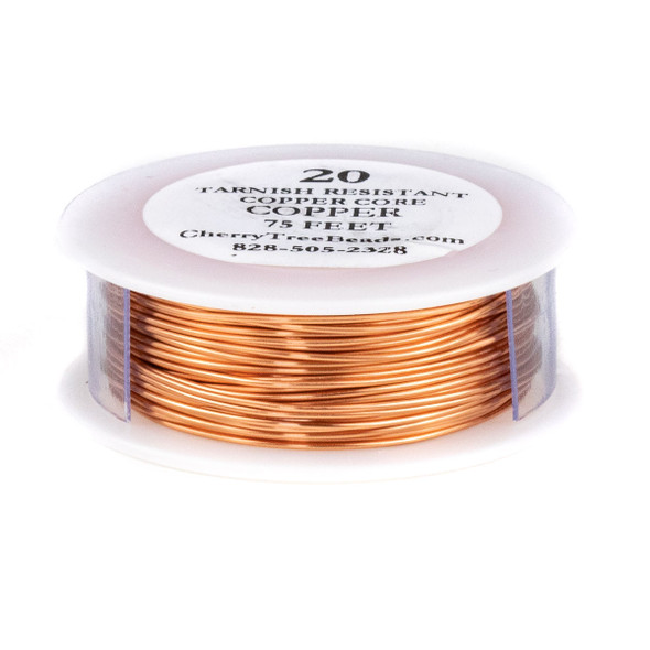20 Gauge Coated Tarnish Resistant Copper Wire on 75 Foot Spool