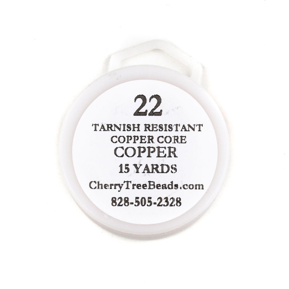 22 Gauge Coated Tarnish Resistant Copper Wire on 15-Yard Spool