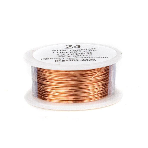 24 Gauge Coated Non-Tarnish Copper Wire on 20-yard Spool