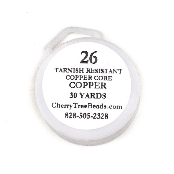 26 Gauge Coated Tarnish Resistant Copper Wire on a 30-Yard Spool