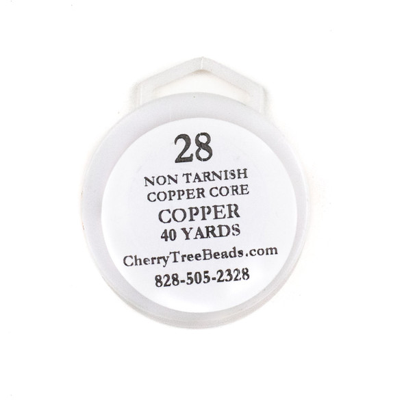 28 Gauge Coated Non-Tarnish Copper Wire on a 40-Yard Spool