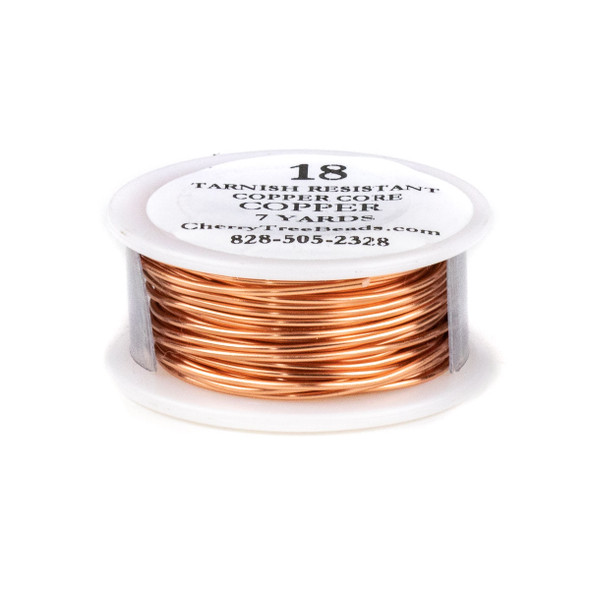 18 Gauge Coated Tarnish Resistant Copper Wire on 7-Yard Spool