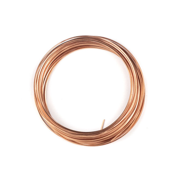 21 Gauge Coated Tarnish Resistant Copper Square Wire in a 7-Yard Coil