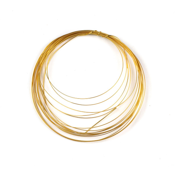 21 Gauge Coated Non-Tarnish Gold Plated Copper Half Round Wire in 4-Yard Coil