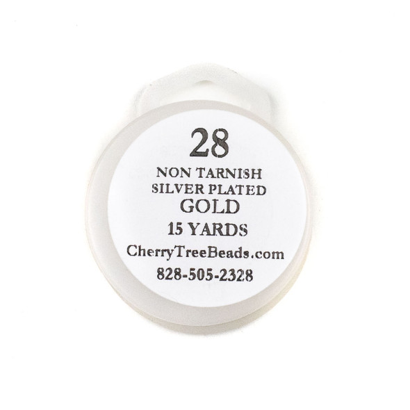 28 Gauge Coated Non-Tarnish Gold Plated Copper Wire on 15-Yard Spool