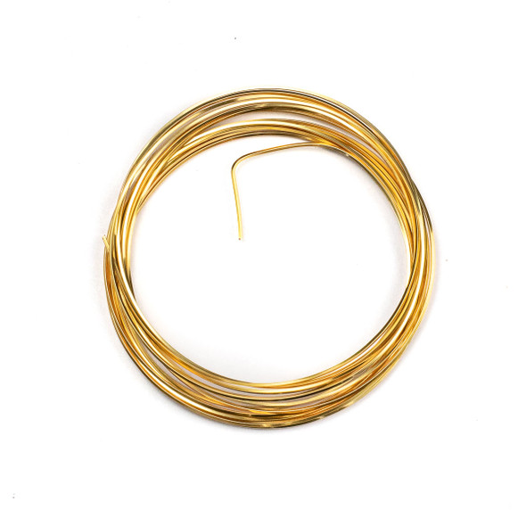 21 Gauge Coated Tarnish Resistant Gold Plated Copper Square Wire in 4-Yard Coil