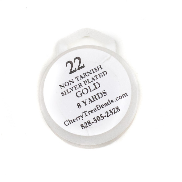 22 Gauge Coated Non-Tarnish Gold Plated Copper Wire on 8-Yard Spool