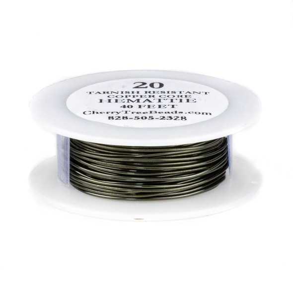 20 Gauge Coated Tarnish Resistant Hematite Colored Copper Wire on 40-Foot Spool