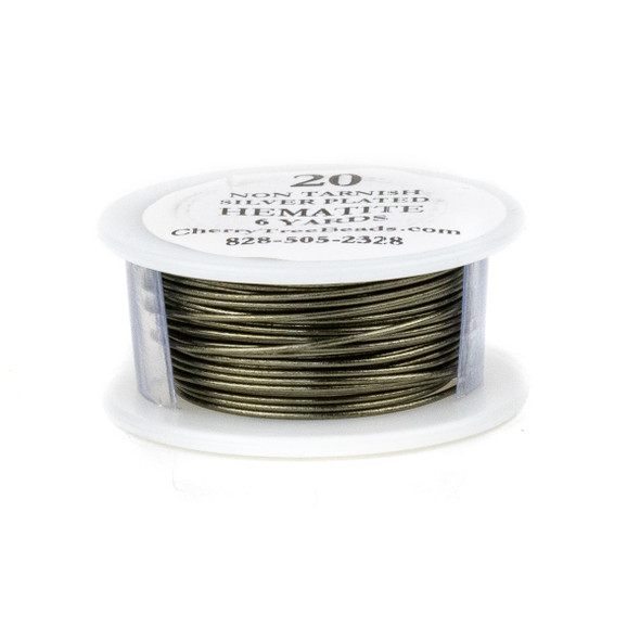 20 Gauge Coated Non-Tarnish Hematite Colored Copper Wire on 6-Yard Spool