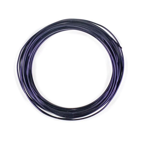 16 Gauge Coated Tarnish Resistant Purple Plated Copper Wire in a 5 Yard Coil