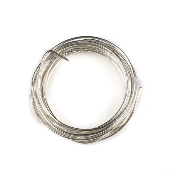 14 Gauge Coated Tarnish Resistant Silver Plated Copper Wire in 10-Foot Coil