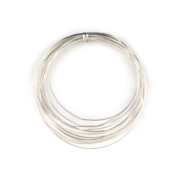 18 Gauge Coated Non-Tarnish Fine Silver Plated Copper Half Round Wire in 4-Yard Coil