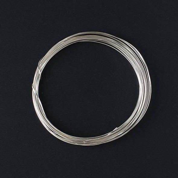 21 Gauge Coated Non-Tarnish Fine Silver Plated Copper Half Round Wire in 4-Yard Coil