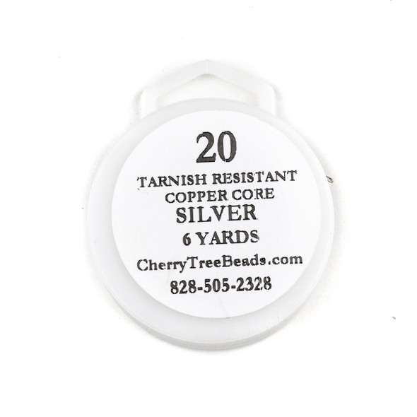 20 Gauge Coated Tarnish Resistant Fine Silver Plated Copper Wire on 6-Yard Spool
