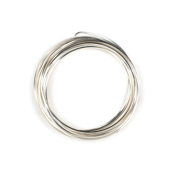 18 Gauge Coated Tarnish Resistant Fine Silver Plated Copper Square Wire in 4-Yard Coil