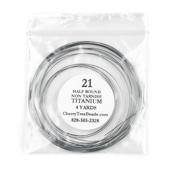 21 Gauge Coated Non-Tarnish Titanium Coated Copper Half Round Wire in 4-Yard Coil