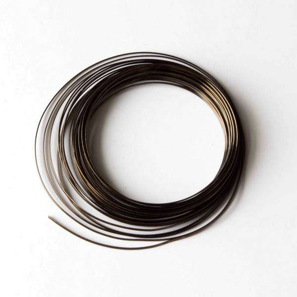 18 Gauge Coated Non-Tarnish Vintage Bronze Plated Copper Half Round Wire in 7-Yard Coil