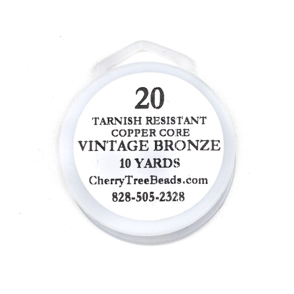 20 Gauge Coated Tarnish Resistant Vintage Bronze Plated Copper Wire on 10-Yard Spool