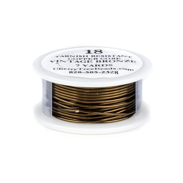 18 Gauge Coated Tarnish Resistant Vintage Bronze Plated Copper Wire on 7-Yard Spool