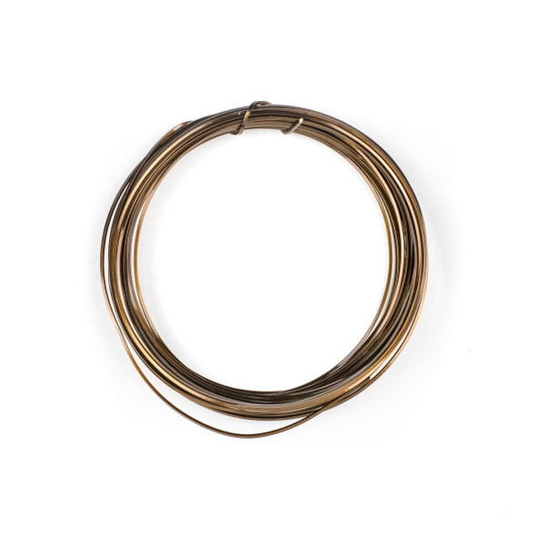 21 Gauge Coated Tarnish Resistant Vintage Bronze Plated Copper Square Wire in 7-Yard Coil