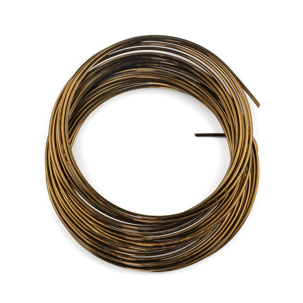 16 Gauge Coated Non-Tarnish Vintage Bronze Plated Copper Wire in 5-Yard Coil