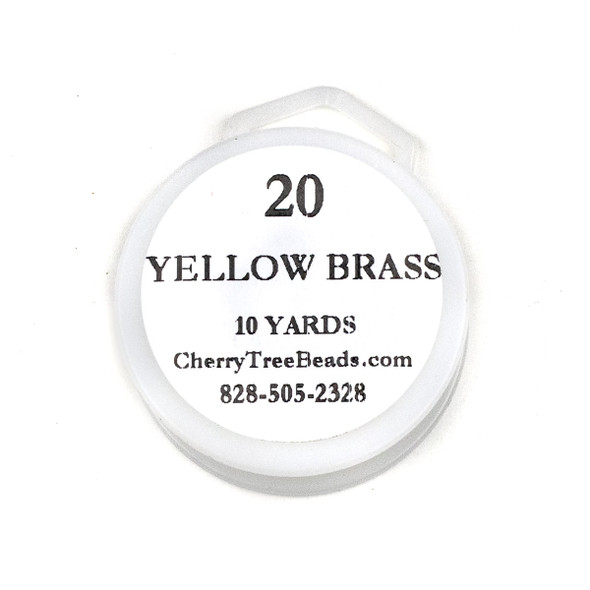 20 Gauge Coated Non-Tarnish Yellow Brass Wire on 10-Yard Spool