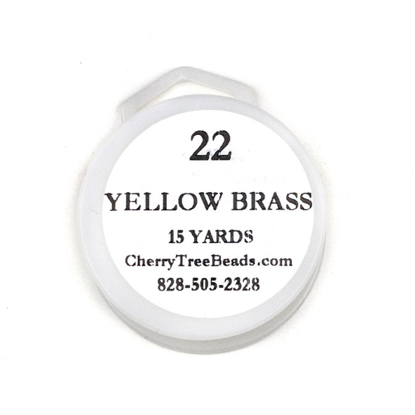 22 Gauge Coated Non-Tarnish Yellow Brass Wire on 15-Yard Spool