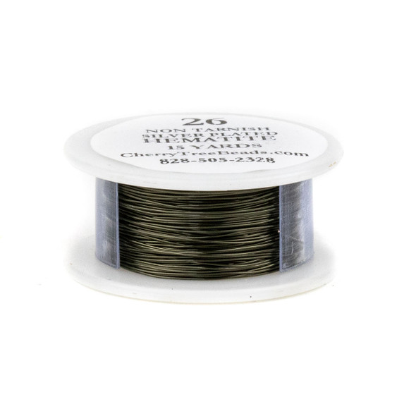26 Gauge Coated Non-Tarnish Hematite Plated Copper Wire in a 15-Yard Spool