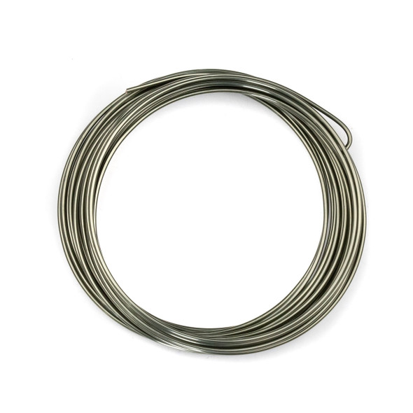 16 Gauge Coated Non-Tarnish Hematite Plated Copper Wire in a 5-Yard Coil