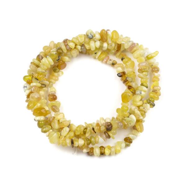 "Yellow Opal 5-8mm Chip Beads - 34"" circular strand"
