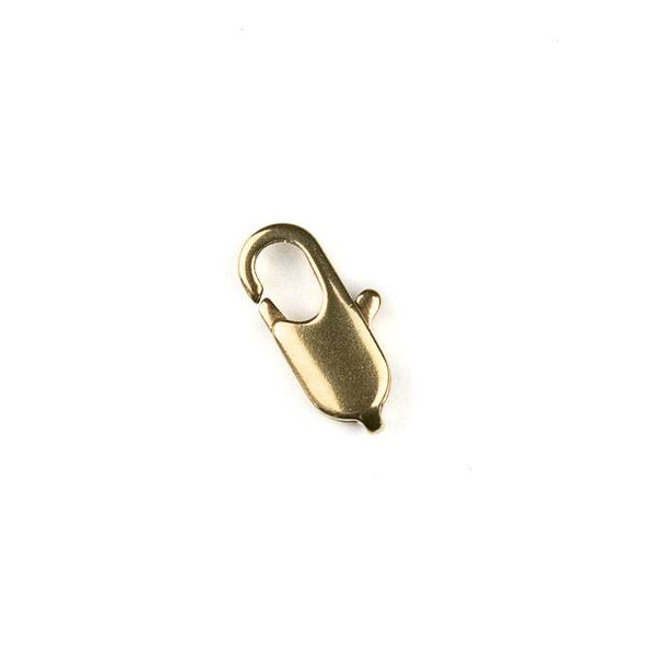 Raw Brass 6x12mm Lobster Clasp - 12 per bag