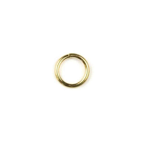 Raw Brass 6mm Open Jump Rings - 100 per bag