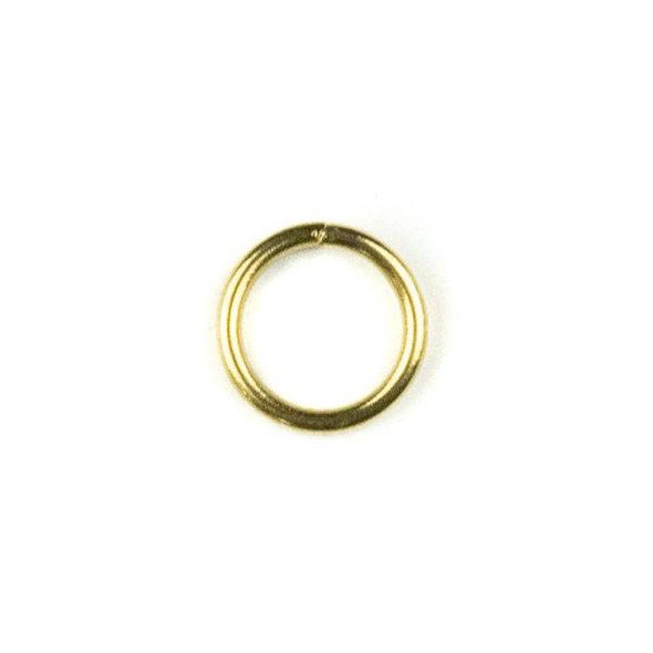 Raw Brass 8mm Open Jump Rings - 100 per bag