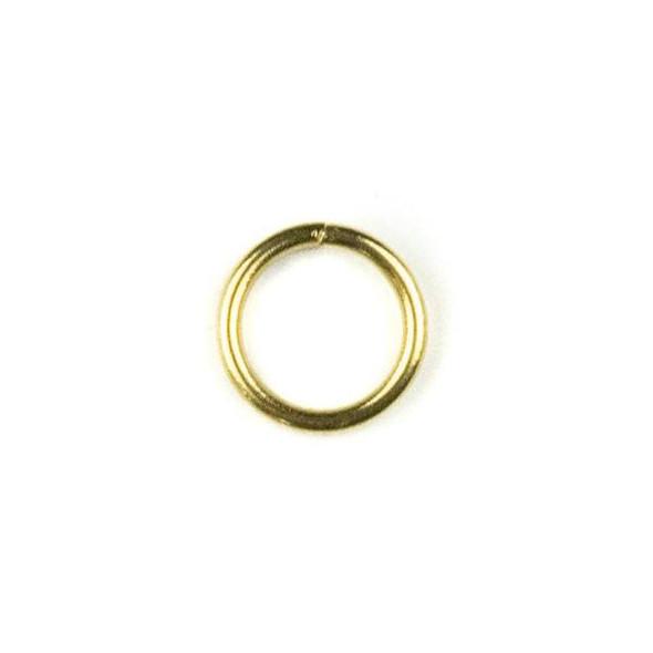 Raw Brass 8mm Open Jump Rings - 100 per bag