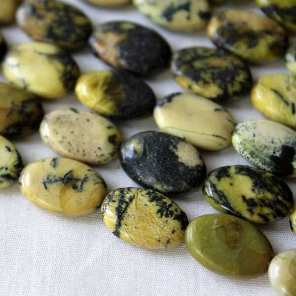 Yellow Turquoise 10x14mm Oval Beads - approx. 8 inch strand, Set A