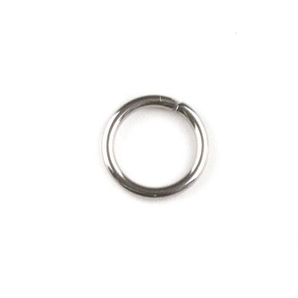 Natural Silver Stainless Steel 1x8mm Open Jump Rings - 100 per bag