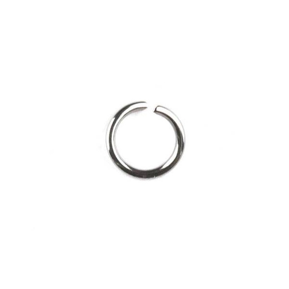 Natural Silver Stainless Steel 0.8x6mm Open Jump Rings - 100 per bag