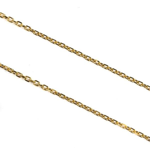 Gold Plated Stainless Steel 1mm Small Flat Cable Chain - 10 meter spool, SS01g-sp