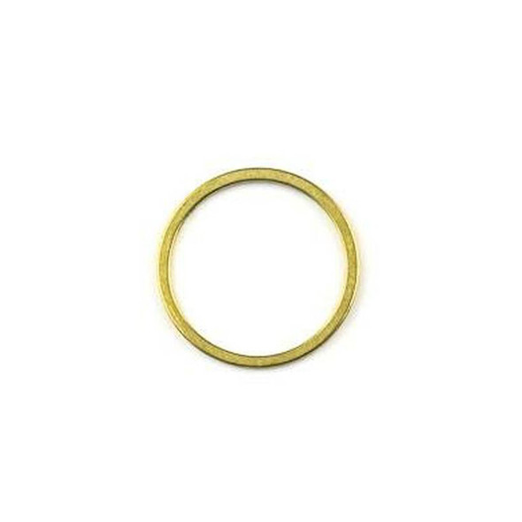 Raw Brass 16mm Hoop Link Components - 6 per bag - CTBYH-017b
