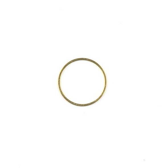 Raw Brass 20mm Hoop Link Components - 6 per bag - CTBXJ-009