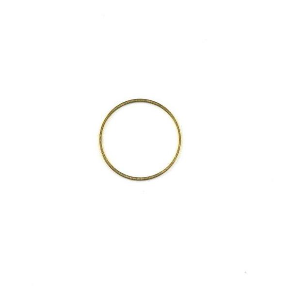 Raw Brass 20mm Hoop Link Components - 6 per bag - CTBXJ-009