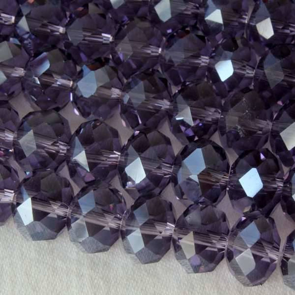 Crystal Faceted 7x10mm Lilac Rondelle