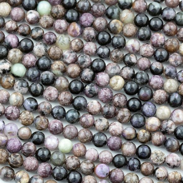 Charoite 6mm Round Beads - 15.5 inch strand