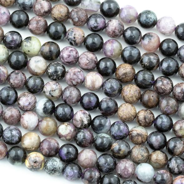 Charoite 8mm Round Beads - 15.5 inch strand