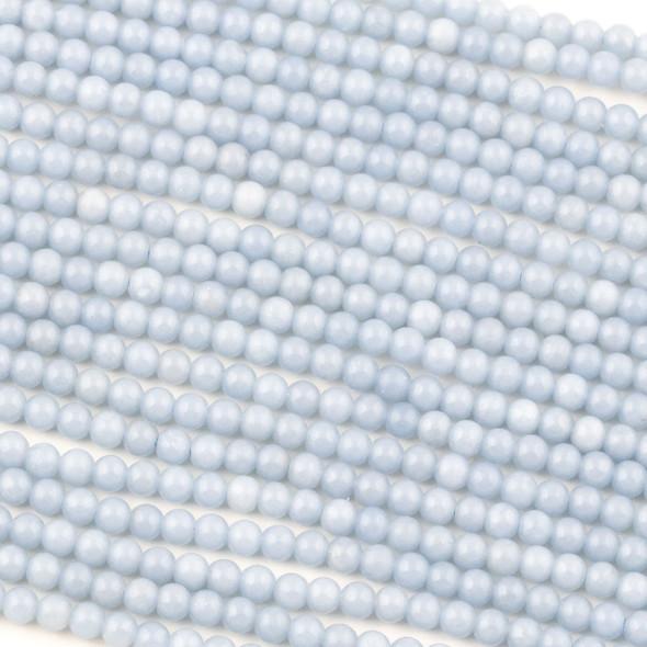 Angelite 4mm Round Beads - 15 inch strand