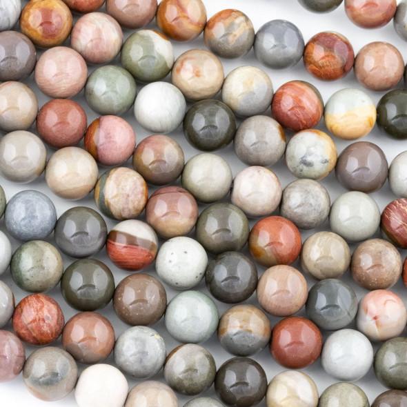 Polychrome Jasper 10mm Round Beads - 15 inch strand