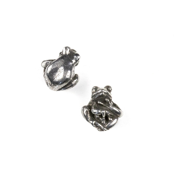 Green Girl Studios Pewter 11x14mm Tree Frog Bead - 1 per bag