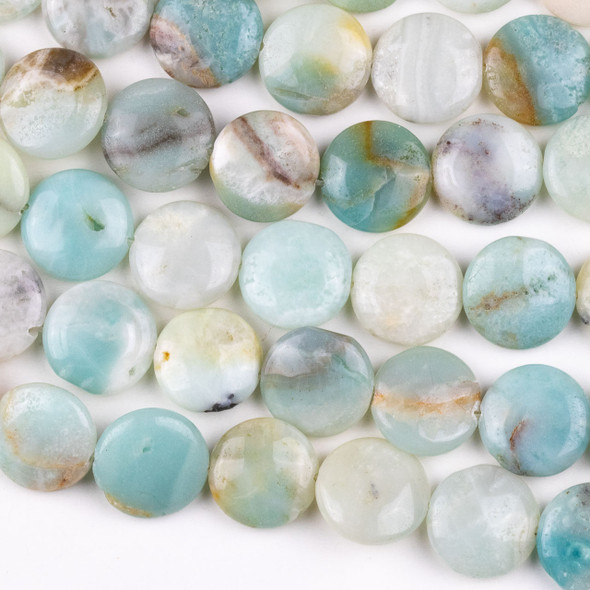 Amazonite 16mm Coin Beads - 15 inch strand, Grade C